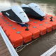 Plastic floating jet ski lift