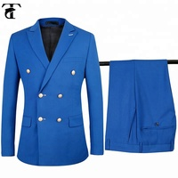 2 Piece Latest Design Royal Blue Double Breasted Suits For Men