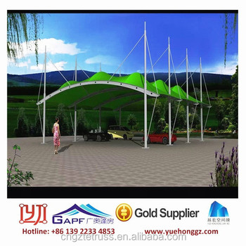 Landscape Tensile Steel Structure Canopy with innovative Design & Landscape Tensile Steel Structure Canopy With Innovative Design ...