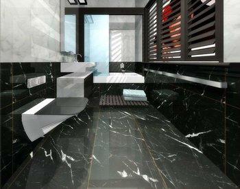factory best price nero/black marquina marble bathroom