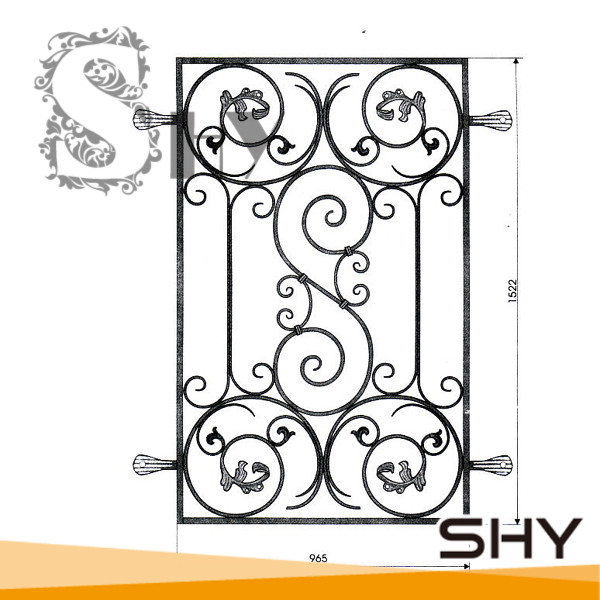 Modern Simple Wrought Iron Main Gate Designs