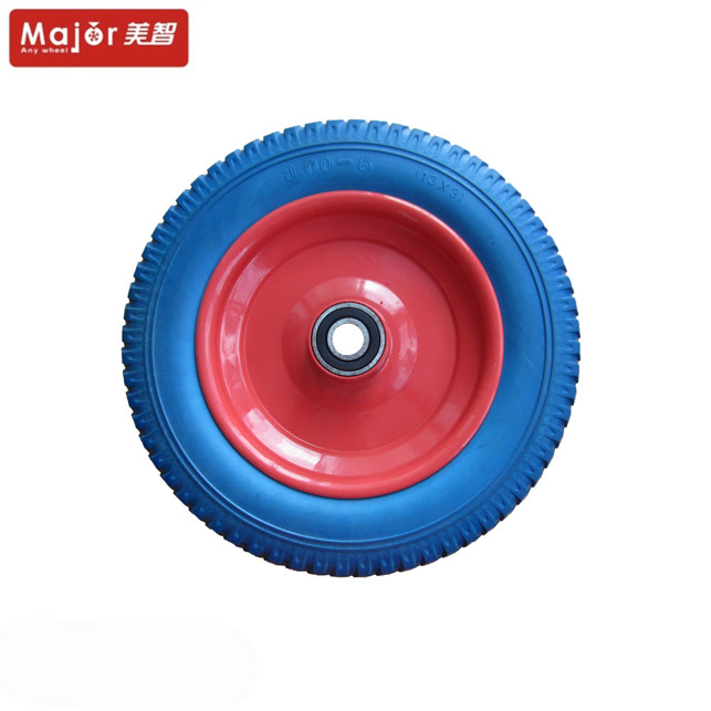 13x3 solid soft rubber pu foam wheelbarrow wheel