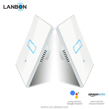 Lanbon 1 Gang 2 Way Wifi Smart Light Switch Mutual Control Compatible With Google Home Amazon Echo Buy 1 Gang 2 Way Switch Wifi Light Switch Google Home Product On Alibaba Com