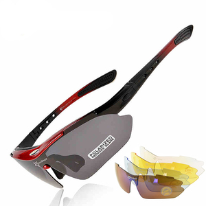 RockBros 5 Lens TR90 Polarized Cycling Eyewear Myopia Frame Outdoor Sports UV400 Sun Glasses Bicycle Goggles MTB Bike Sunglasses