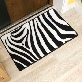 Weiß Und Schwarz Zebra Streifen Gedruckt Rechteck Die Schlafzimmer ...
