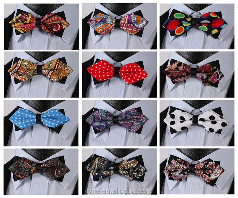 Good touch men yellow denim bowties