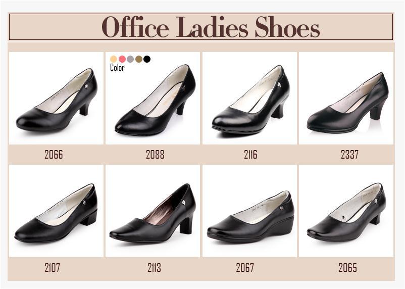 Low Platform 3 5cm High Heel Las Formal Shoes Black