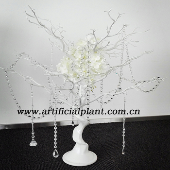 Wf08141 New White Crystal Manzanita Tree Wedding Table Decoration ...