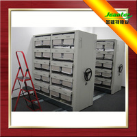 Compactor Cabinet Movable Storage Shelf Movable Rack Steel Compact Movable Shelving Wall Floating Shelf With Drawer