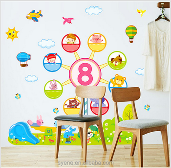 3d Removable Self Adhesive Wall Mirror Decoration Stickers Cartoon ...