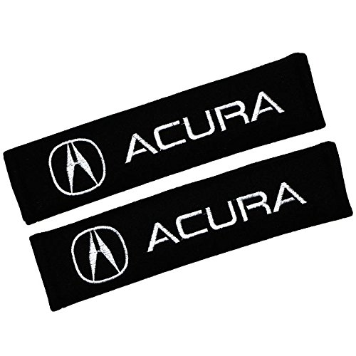 QZS Car Brand Seat Belt Shoulder Pads Strap Covers Cushion 1 Pair (Acura)