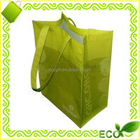 customized gravure printing bopp laminated RPET recyclable reusable carry away pet bag