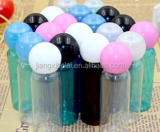 Ball Cap Design Hotel Bubble Bath Plastic Shower Gel Bottle