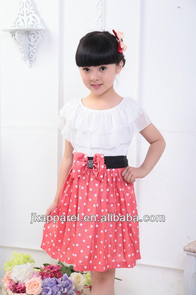 2014 ropa de niña de punto de moda niños vestido casual-Vestidos ...