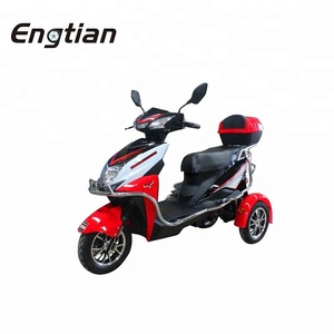 China Cool 3 Wheel Electric Tricycle Hot Sale 800w Adult Electric Passenger Cargo Tricycle Scooter