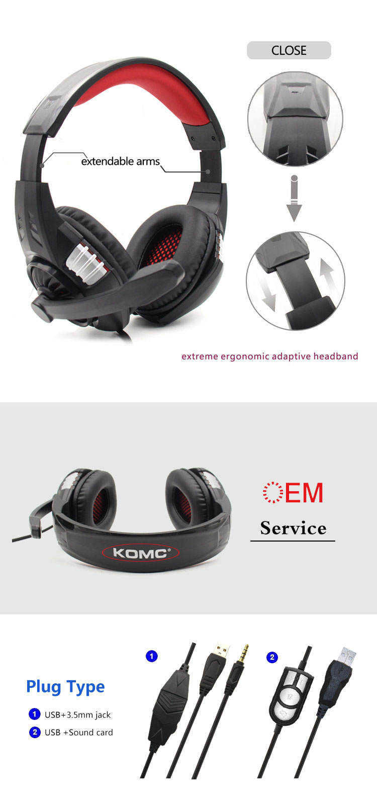 2019 Hot Sale Black Game Headset headphones with Mic for Gaming, gaming head sets