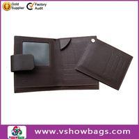 Facotry promotion real leather wallet for men ; custom men leather billfold