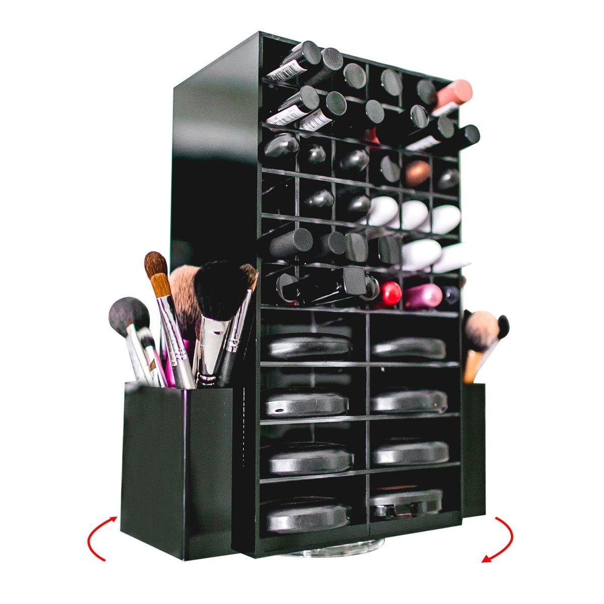 Get Quotations · Spinning Acrylic Makeup Organizer Carousel - Holds 72 Lipstick Holder Slots Brushes u0026 16 Powder  sc 1 st  Alibaba & Cheap Makeup Organizer Spinning find Makeup Organizer Spinning ...