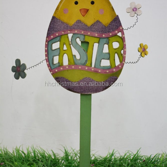 Buy cheap china easter wooden gifts products find china easter plant ornaments easter wooden stick for garden gifts young chicken and rabbit stick for easter negle Images
