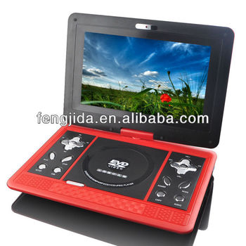 13 inch portable dvd player low price with 3D