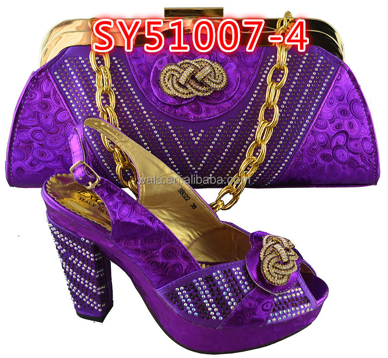 bag SY51007 for shoes fashion shoes gold party 2 italy heel wedding and and high set style set matching italian bag wqngIpUZ