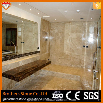 China Supplier Cappuccino Marble Beige Marble Tile Bathroom Decoration  Cappuccino Marble Mosaic 48x48