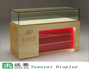 simple wooden glass jewelry display showcase jewellery shop counter design