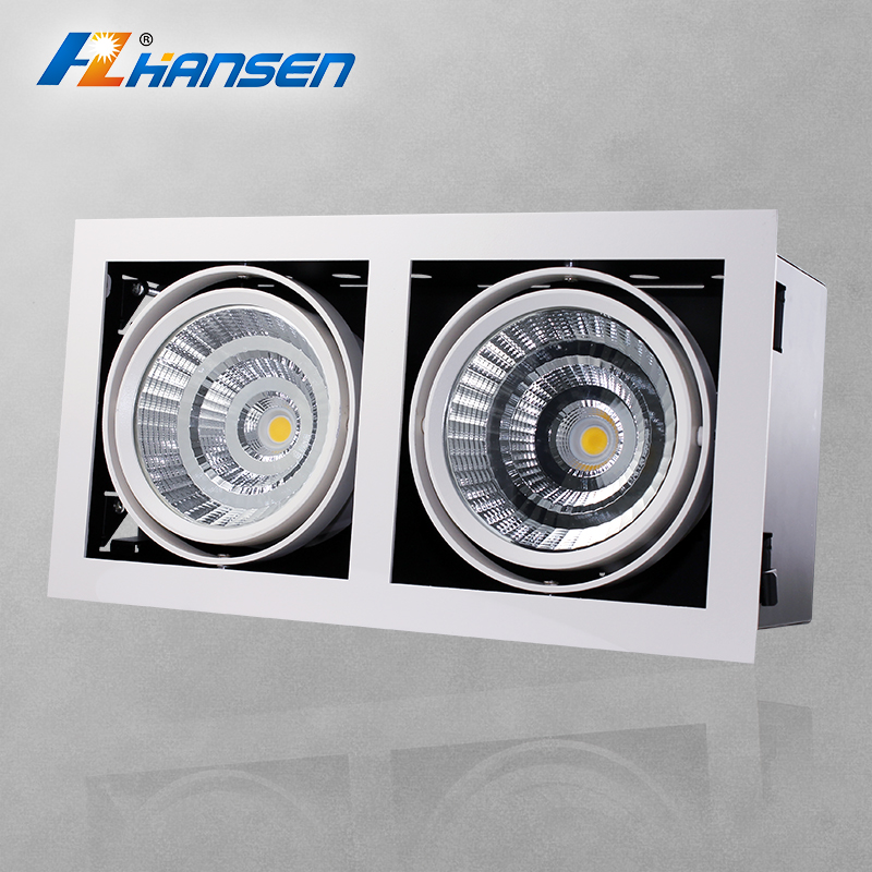 2x30w 90lm/w grille light fixture 2 heads grille lamp