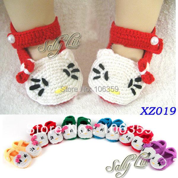 ab8f84ec7 Baby Slipper Booties Crochet Knit Newborn First Walker Shoes Infant ...