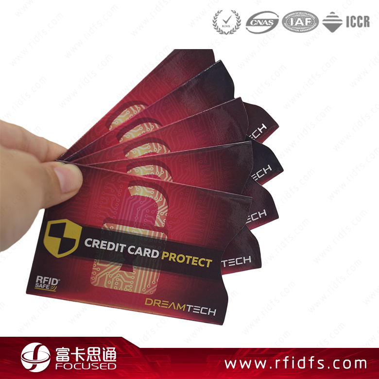 Rfid Credit Card Protector Aluminium Card Holder Foil Sleeves
