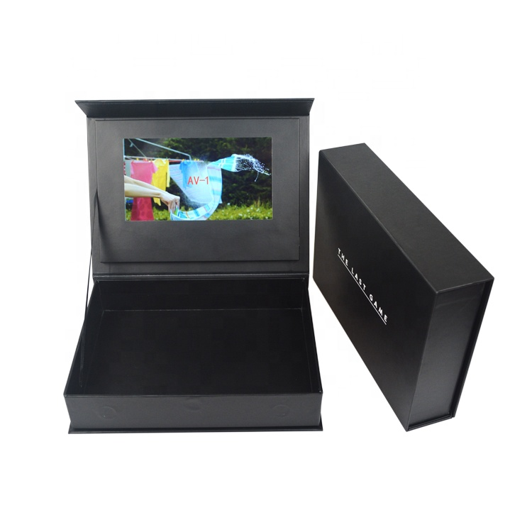 Chinese homemade TFT screen diy customized  Lcd Gift box 10 inch video brochure box