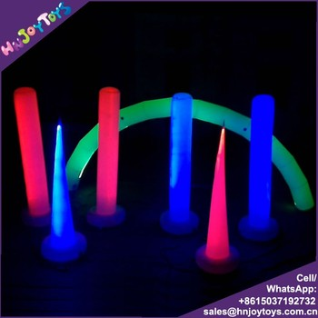 colorful large led light arch inflatable for stage decoration, electric run way arch used for race