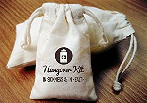 In Sickness And In Health Favor Bag - Hangover Bags - Hangover Kit - Hangover Kit Bag - Bachelorette Hangover Kit - Bachelorette Party Hangover Kit - Wedding Hangover Kit - Hangover #FAV_BAG_51