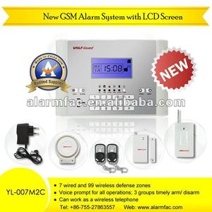 Hot sale latest GSM Alarm System YL-007M2C wireless gsm alarm systems ph-g50b linux home alarm system