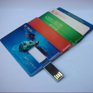 Custom logo waterproof visiting card usb pen drive 1GB-64GB