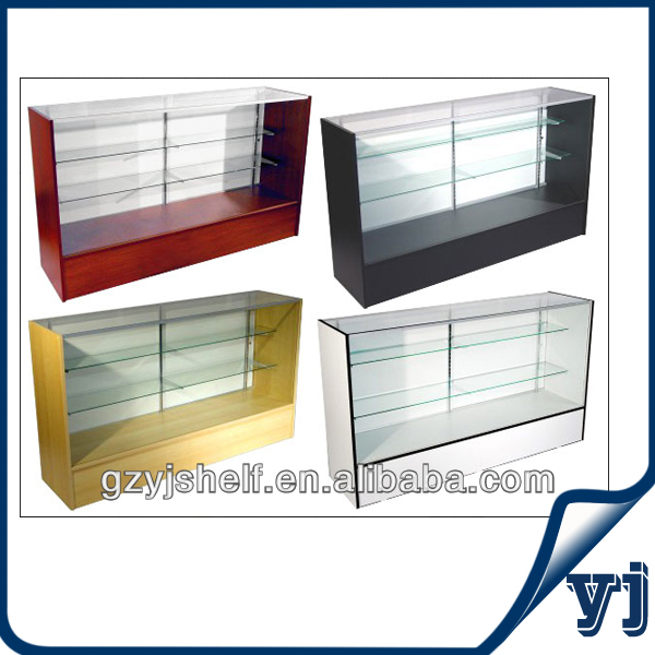 New Products 2017 Glasses Display/Glass Vitrine Display Free Stand Showcase