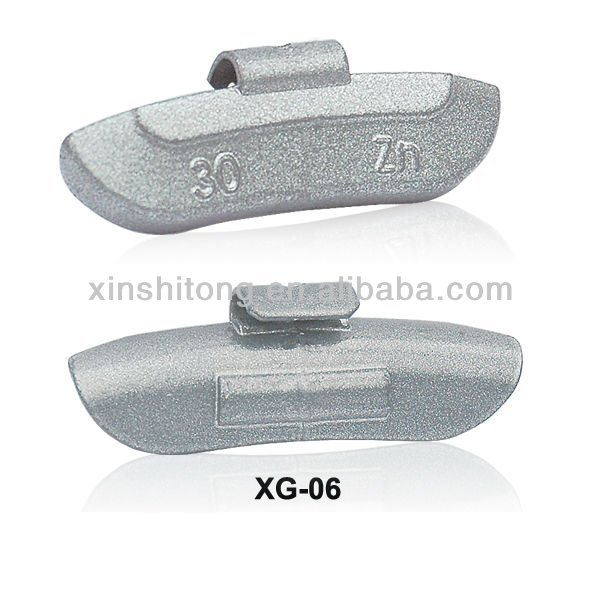 zinc clip on wheel balancing weights
