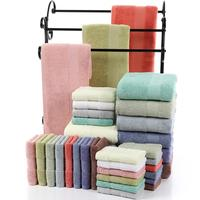Quality Cheap Towels Size 70 140 Cotton Pure color bath towels Set