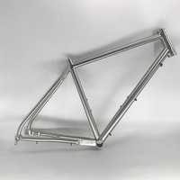 titanium touring road bicycle frame titanium gravel bike frame for flat mount brake