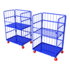 European foldable wire mesh container 300kg Logistics Trolley