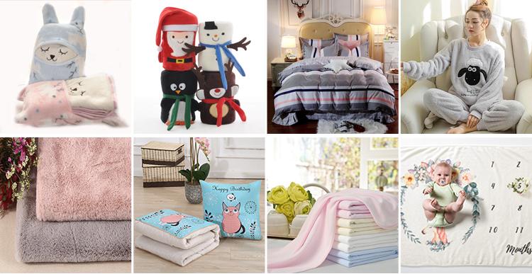 น่ารักของเล่นคริสต์มาสของขวัญเด็กผ้าห่ม Flannel ขนแกะผ้าห่ม Plush