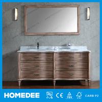 HOMEDEE Waterproof classic Modern mirror oak solid wood mdf bathroom cabinet