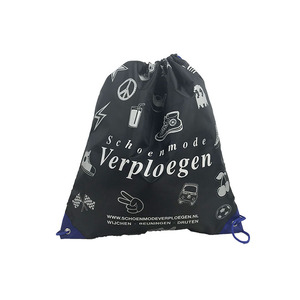Custom logo 190T polyester waterproof drawstring bag