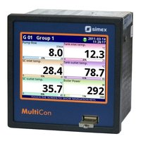 Compact multichannel controller with data logging capabilities MultiCon CMC-99