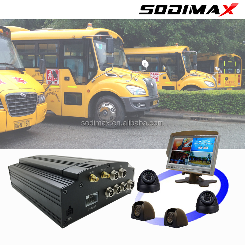 2017 advanced 4ch bus truck school bus vehicle camera recorder with 3g gps wifi