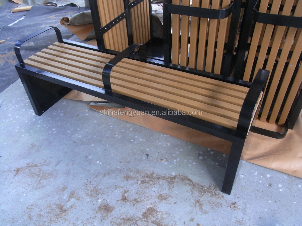 Hdpe Plastic Wood Material Patio Bench Outdoor Furniture