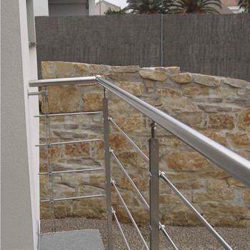 Galvanized Steel Pipe Balcony Railing / Steel Pipe ...