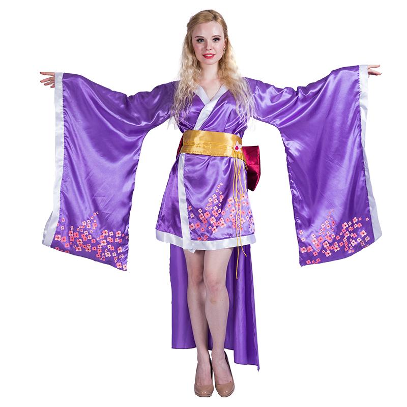 Mujeres Kimono Japonés Geisha Trajes Para Halloween Cosplay Party ...
