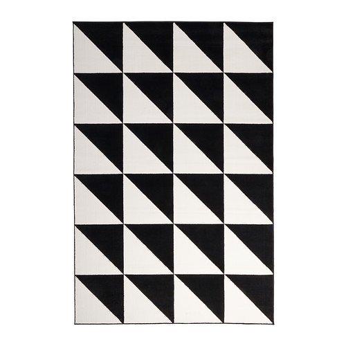 "Ikea Rug, low pile, white/black 6 ' 7 ""x9 ' 10 "" 826.262326.106"