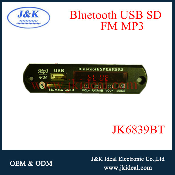 JK6839BT blue tooth altoparlanti lettore usb mp3 mp4 mp5 kit